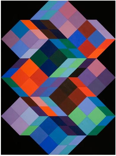 "ArtG315. ""Tridim K."" by Victor Vasarely / Bechtler Museum of Modern Art / 1968"