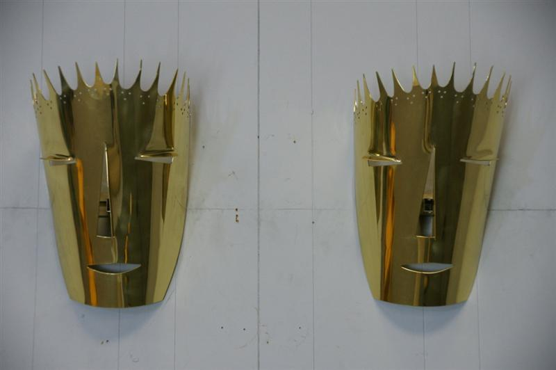 "Brass Sconces by Gio Ponti  ""IL DIAVOLO"""