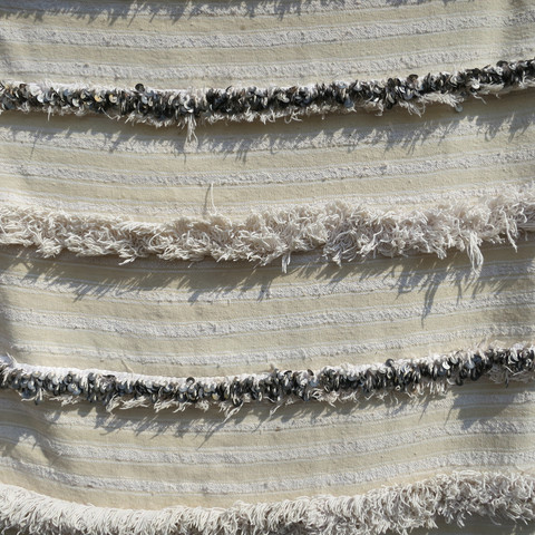 grey stripes moroccan wedding blanket / maven collection (detail)