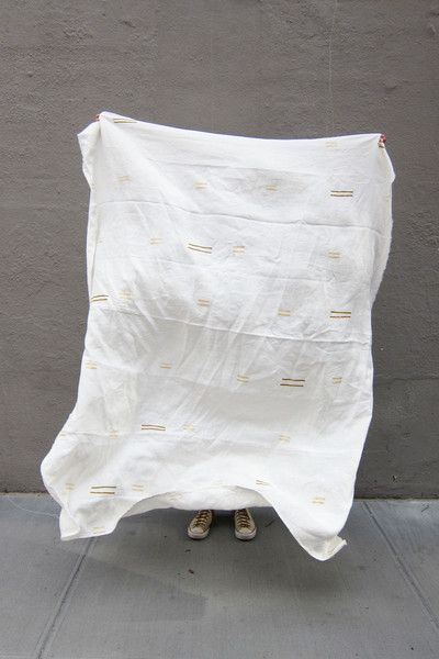 Morocco White Throw / Caroline Z Hurley