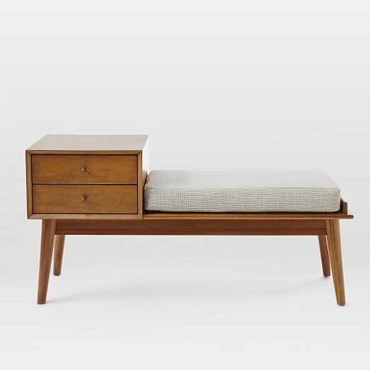 West Elm // mid-century bench