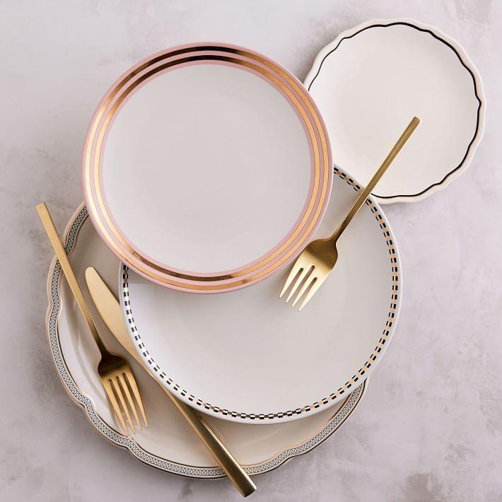 WEST ELM fishs eddy gilded dinnerware set