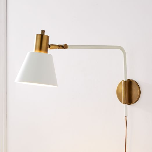 West Elm + Rejuvenation Cylinder Adjustable Sconces