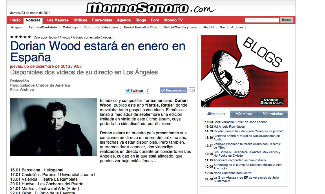 MONDO SONORO // International Online M. Outlet