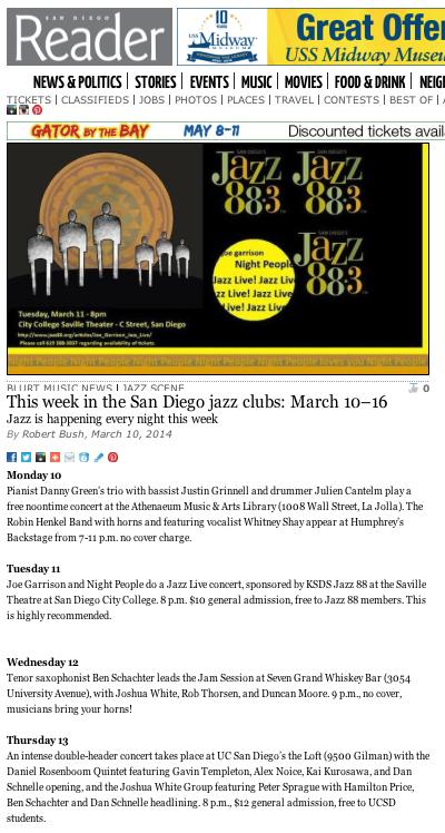 San Diego Reader // Local Online