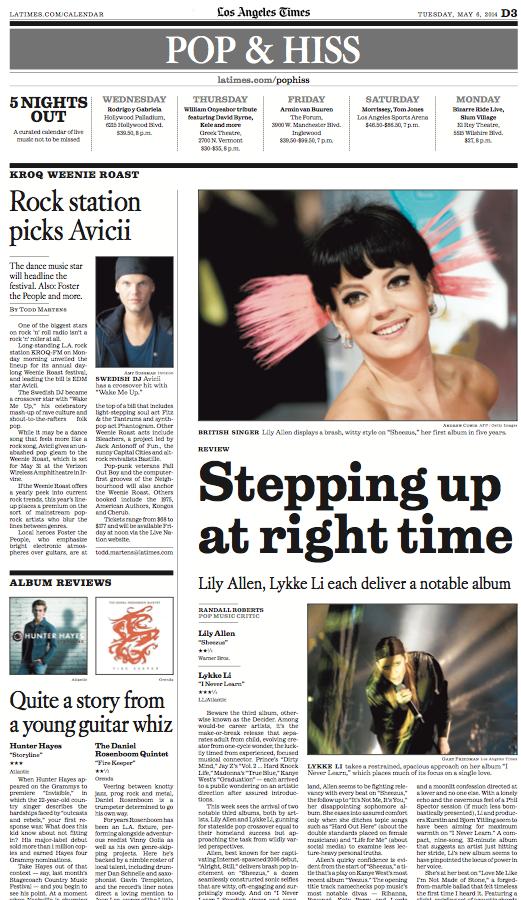 Los Angeles Times // Printed