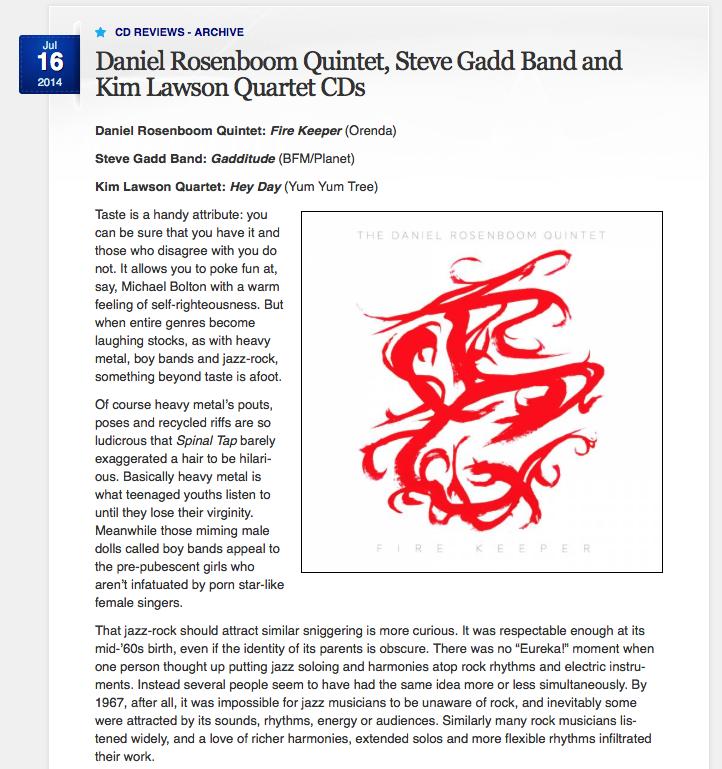 SYDNEY MORNING HERALD // Album Review