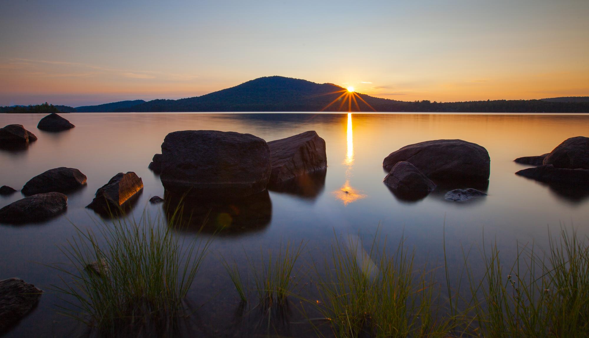 Sunset over Long Lake