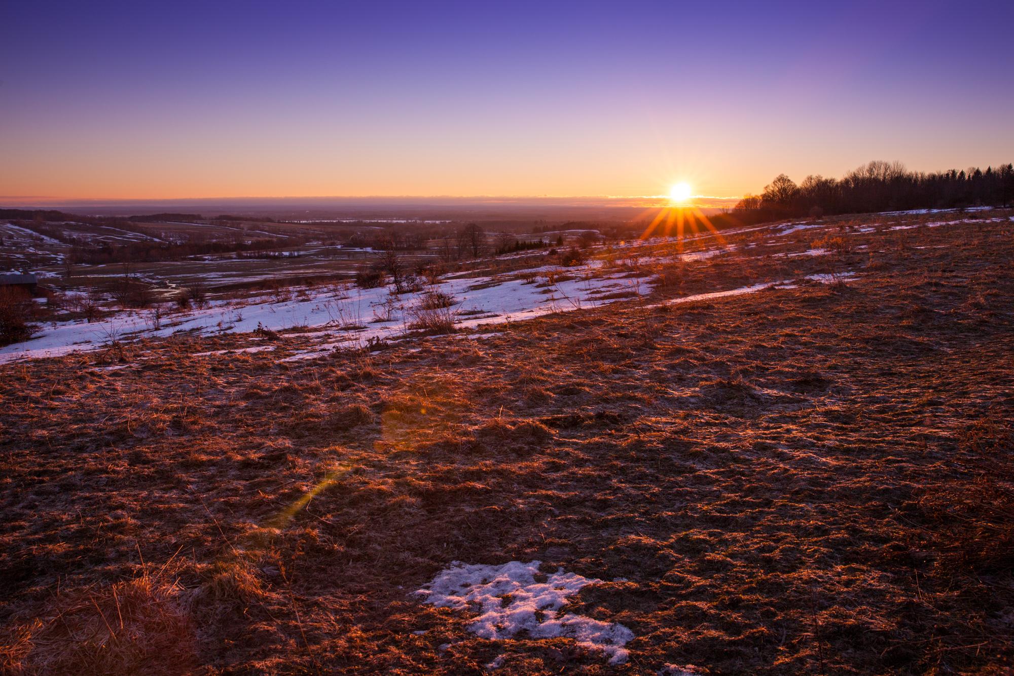 Sunrise in February