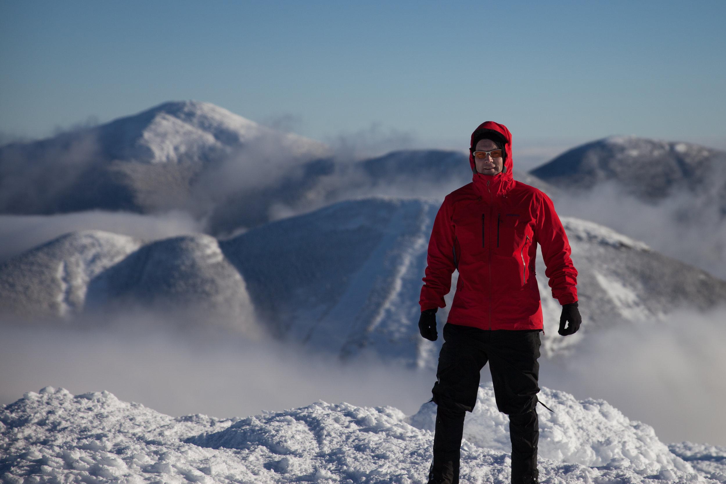 On top of Algonquin Peak in the Adirondaks