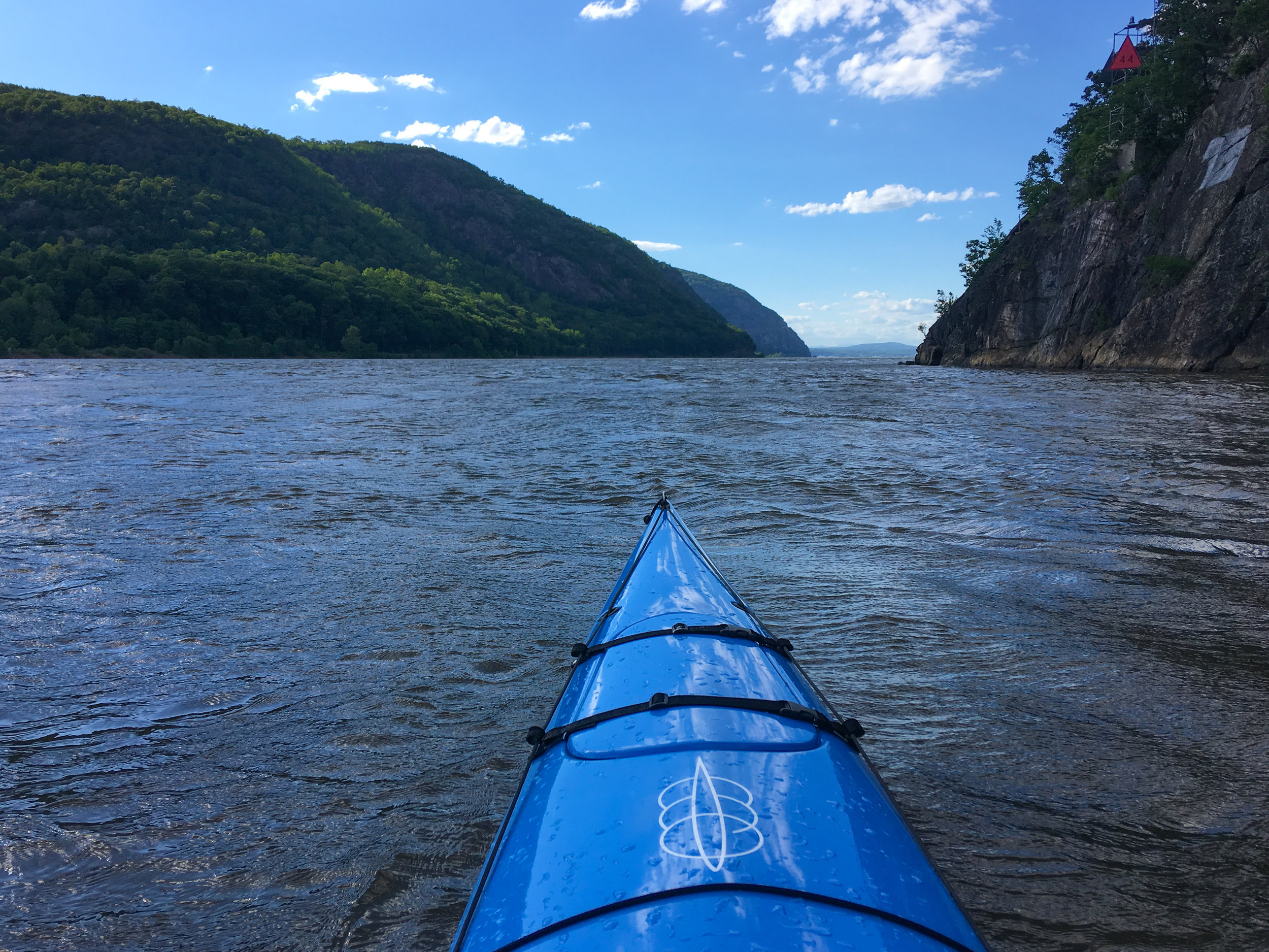 Hudson River on a Windy Day