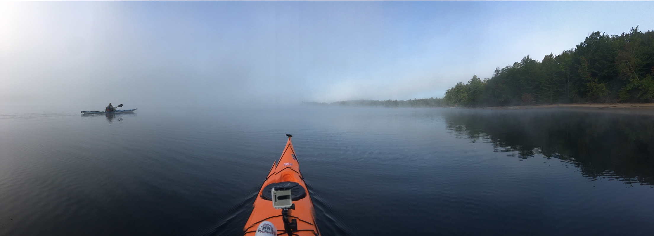 Pano from iPhone on the morning of Day 3. The fog is just staring to lift.