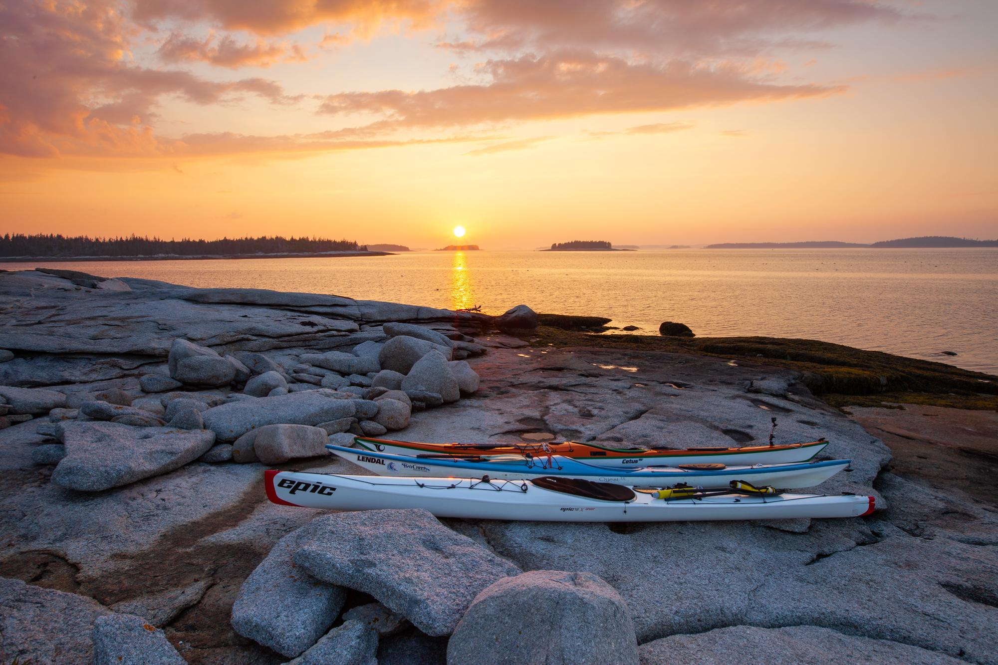 Kayak with Sunset