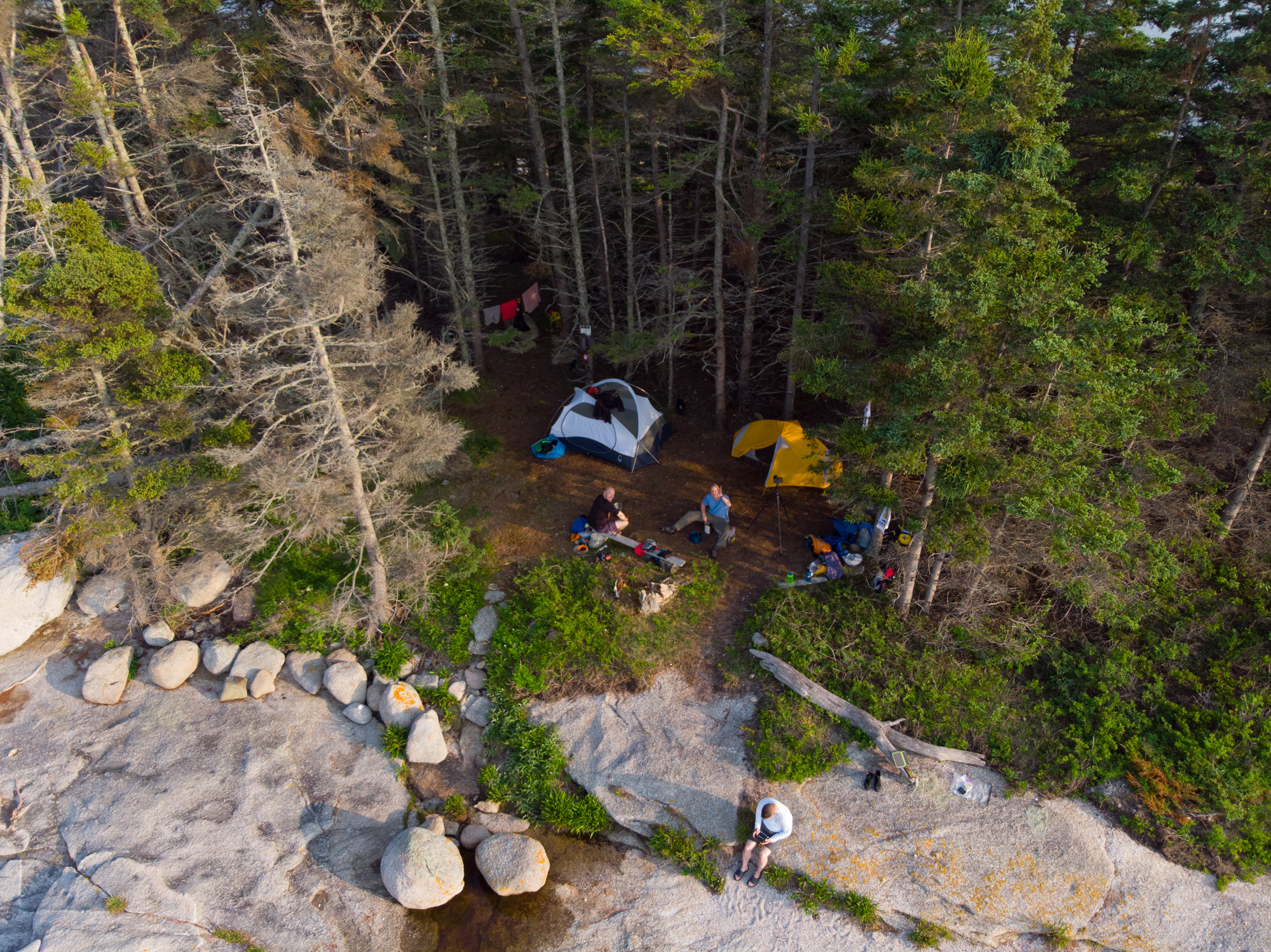 Aerial View of our Camp Site