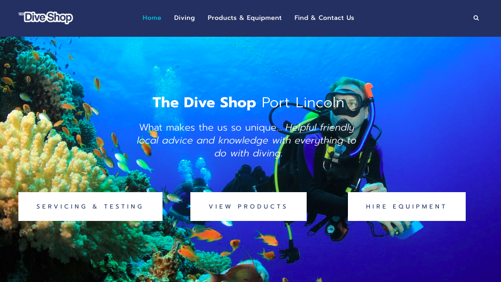 VISIT THE DIVE SHOP