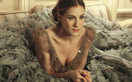"Carrie Bradshaw in Versace ""Mille Feuille""."