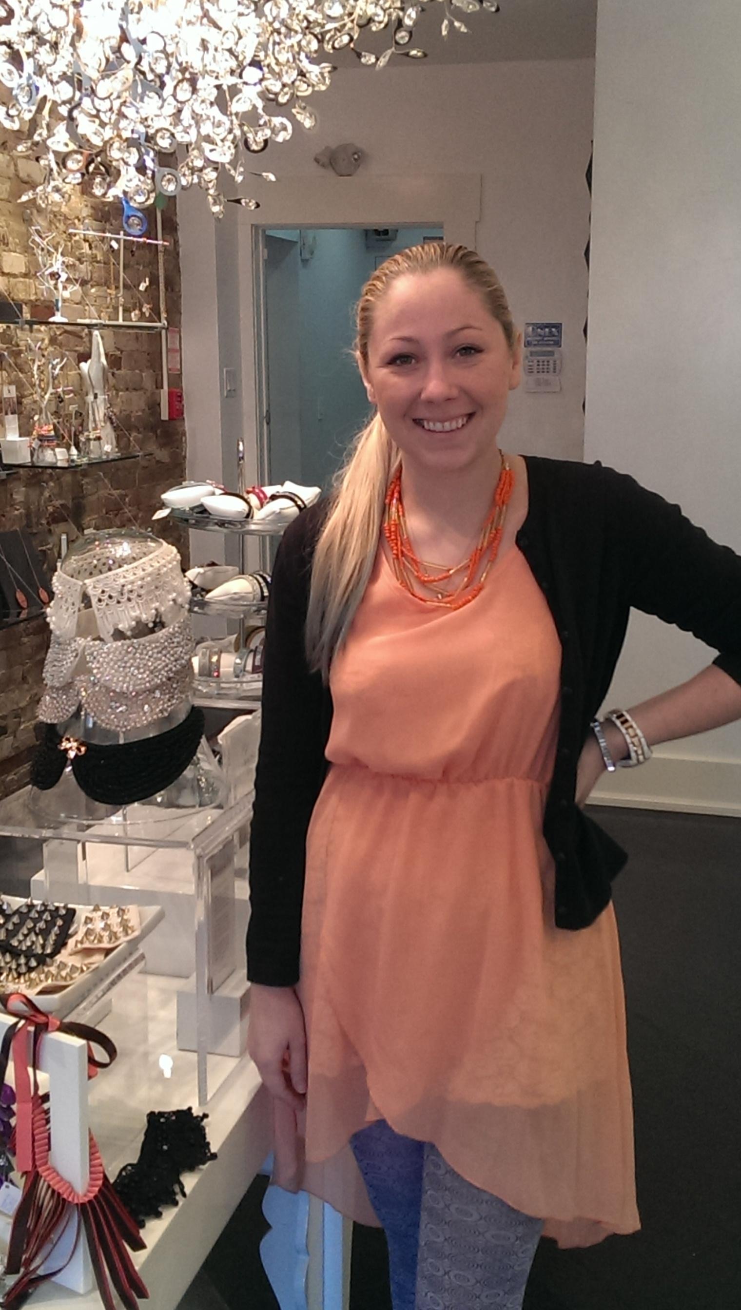 Lilla Balint, owner. The Black Box Boutique.