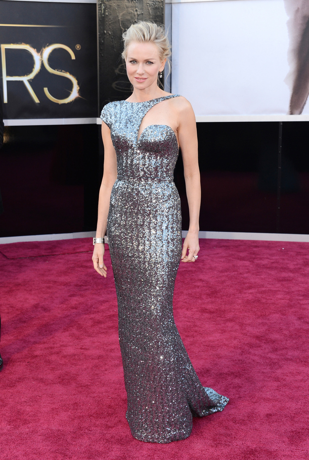 Naomi Watts in Armani Privé, Oscars 2013.