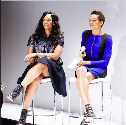 With Tracy Moore, Fashion Saturday. Photo: World Mastercard Fashion Week via Instagram.