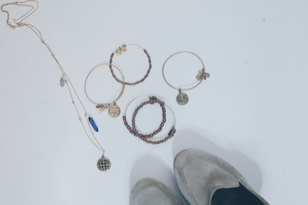 Alex and Ani  charm bracelets and necklace. A sustainable & eco-friendly brand.