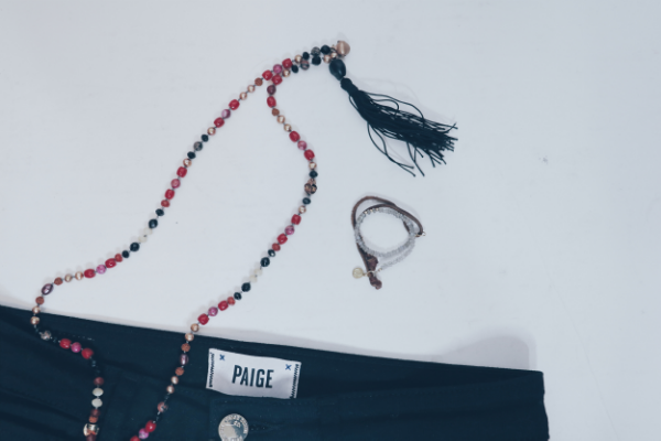 Energy Muse 'Kali' mala necklace and 'Destiny'bracelet.All pieces are cleansed and activated in a sacred healing room before sale.