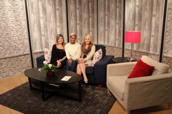 with Sandi Grant, producer (left) and Denise Marek, host.