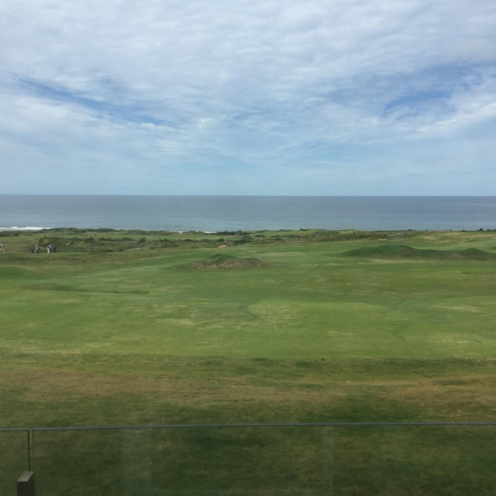The view from our balcony at Cabot Links.