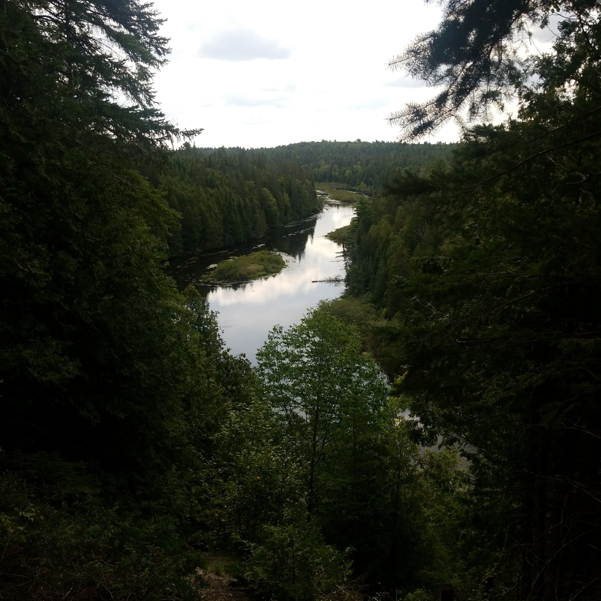 A view of the Indian River from one of the hiking trails