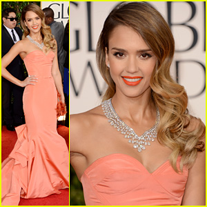 Jessica Alba: So many great things about her look. As far as color, pulled off monochromatic extremely well from the dress, to the lips, to the clutch (possibly the shoes too?). Hair is classic with smooth volume on top with waves starting right at temples. Necklace is great with cut of dress. Just stunning.