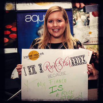 """Contestant #8 - """"I am a Rock Star bride because my fiance IS a Rock Star!""""    Marcus Edwards Photography"""