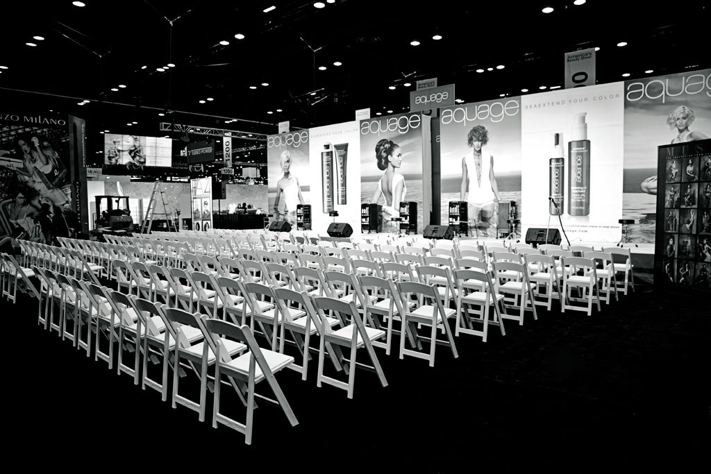 After a full day of set-up and prep, we are almost ready to start the three day show!
