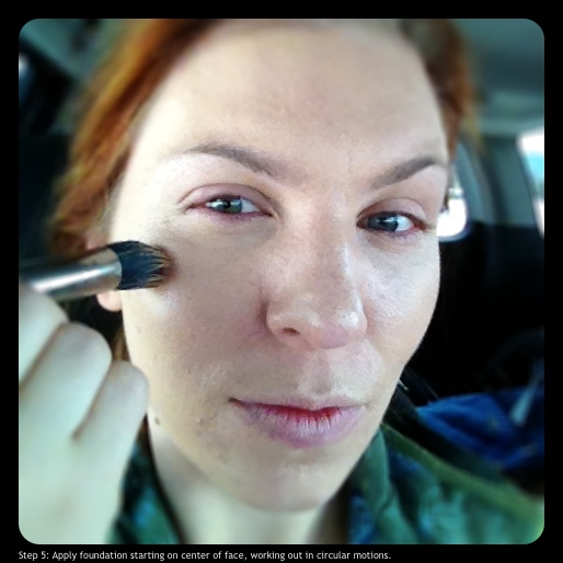 Step 5: Apply foundation on center of face, working out in circular motions.