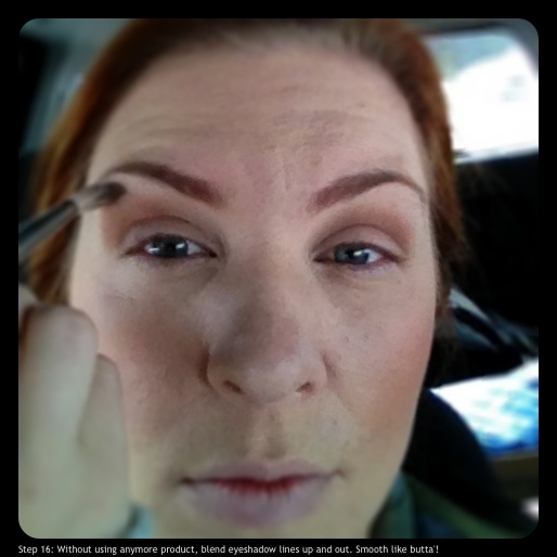 Step 16: Without using anymore product, blend eyeshadow up and out. Smooth like 'butta!