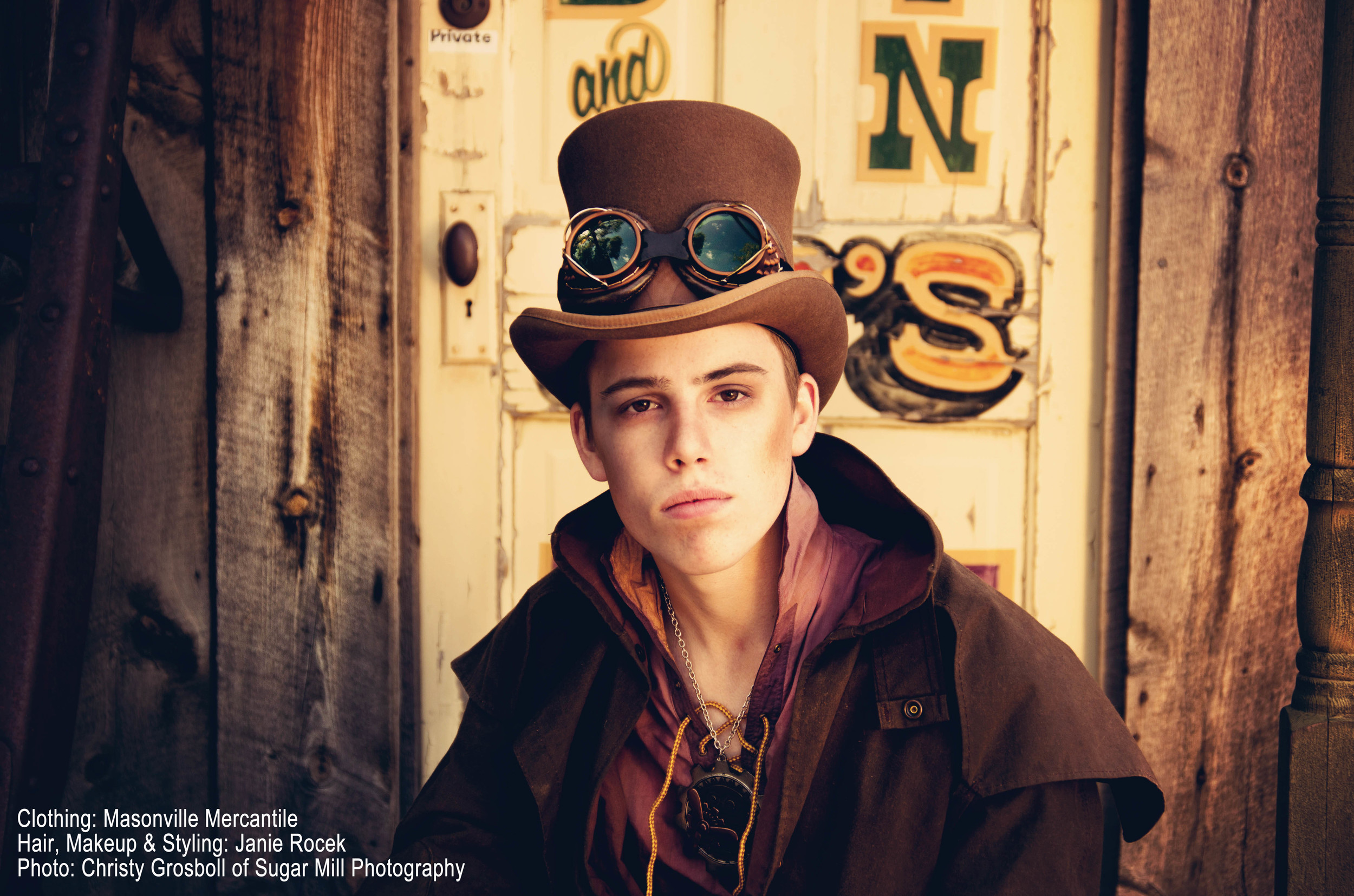 A fun, inventive, out-of-the-box high school senior portrait with Sugar Mill Productions.