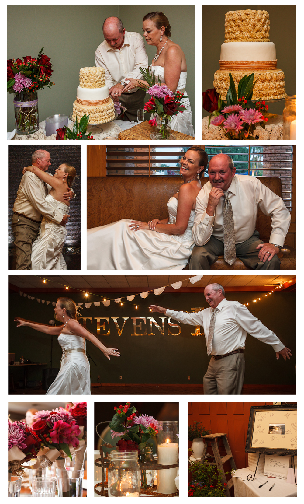 I love all the details put into this wedding and I just love my family! Blessed!