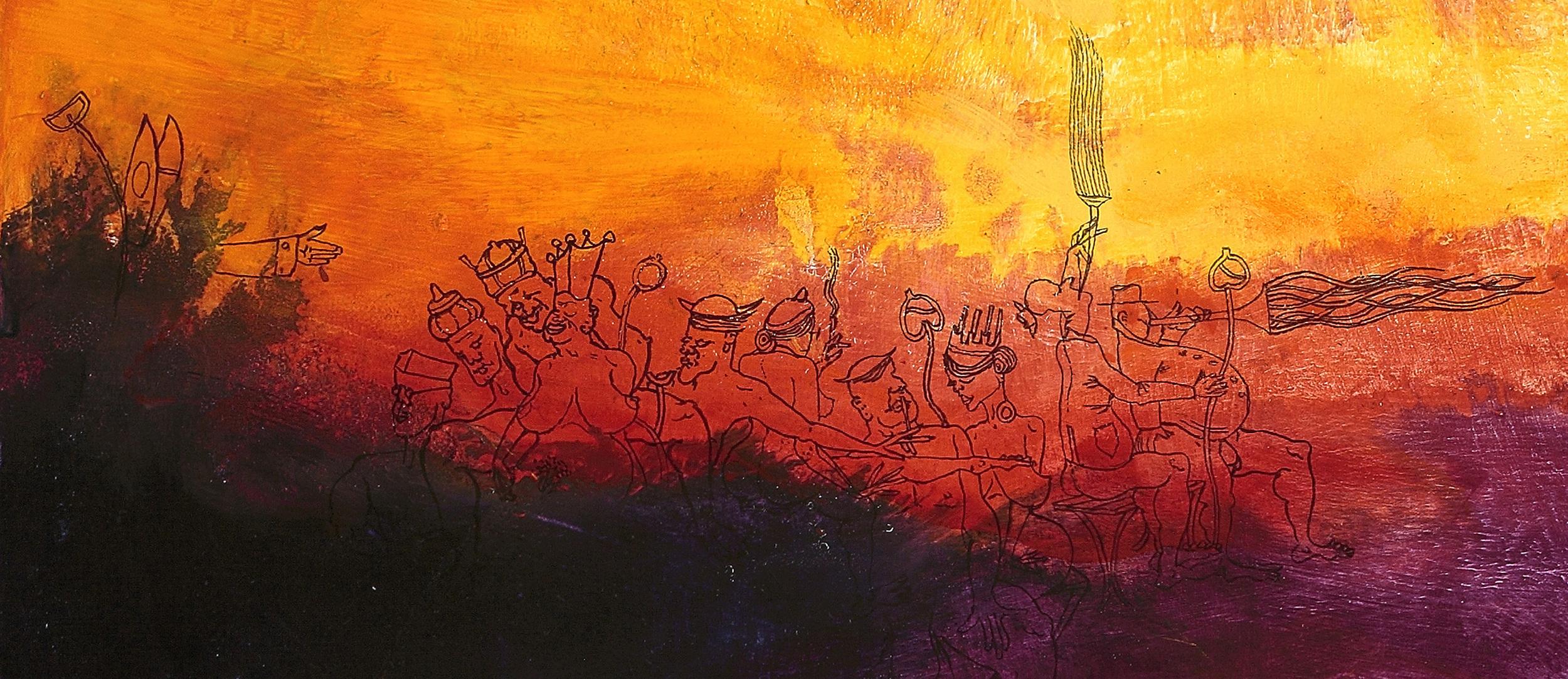 Spirit of This Time (detail) by Ellen Johansen and M G Walker
