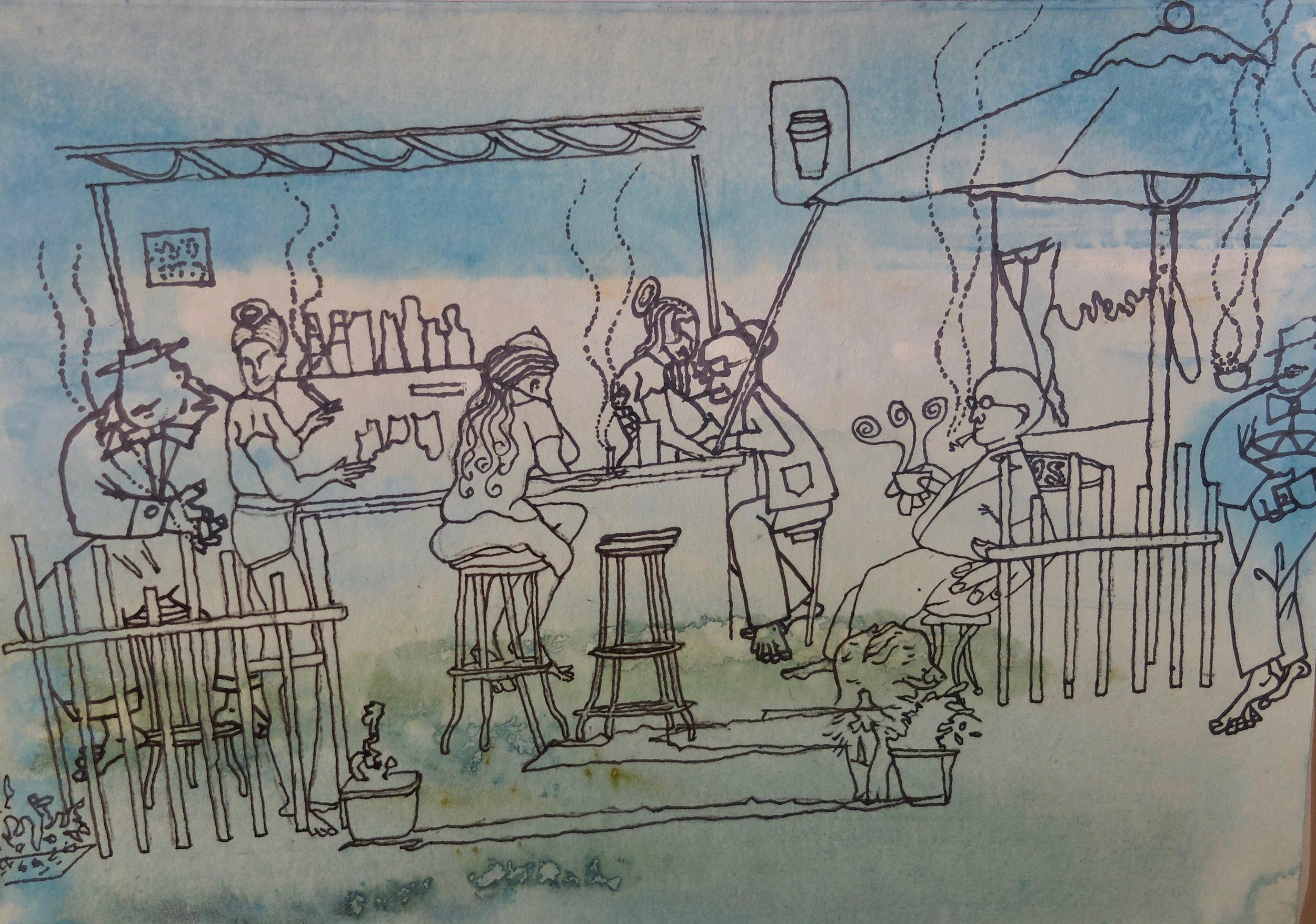 - 'Chilled'ByEllen Johansen & M G WalkerAcrylic, pen and ink on illustration board