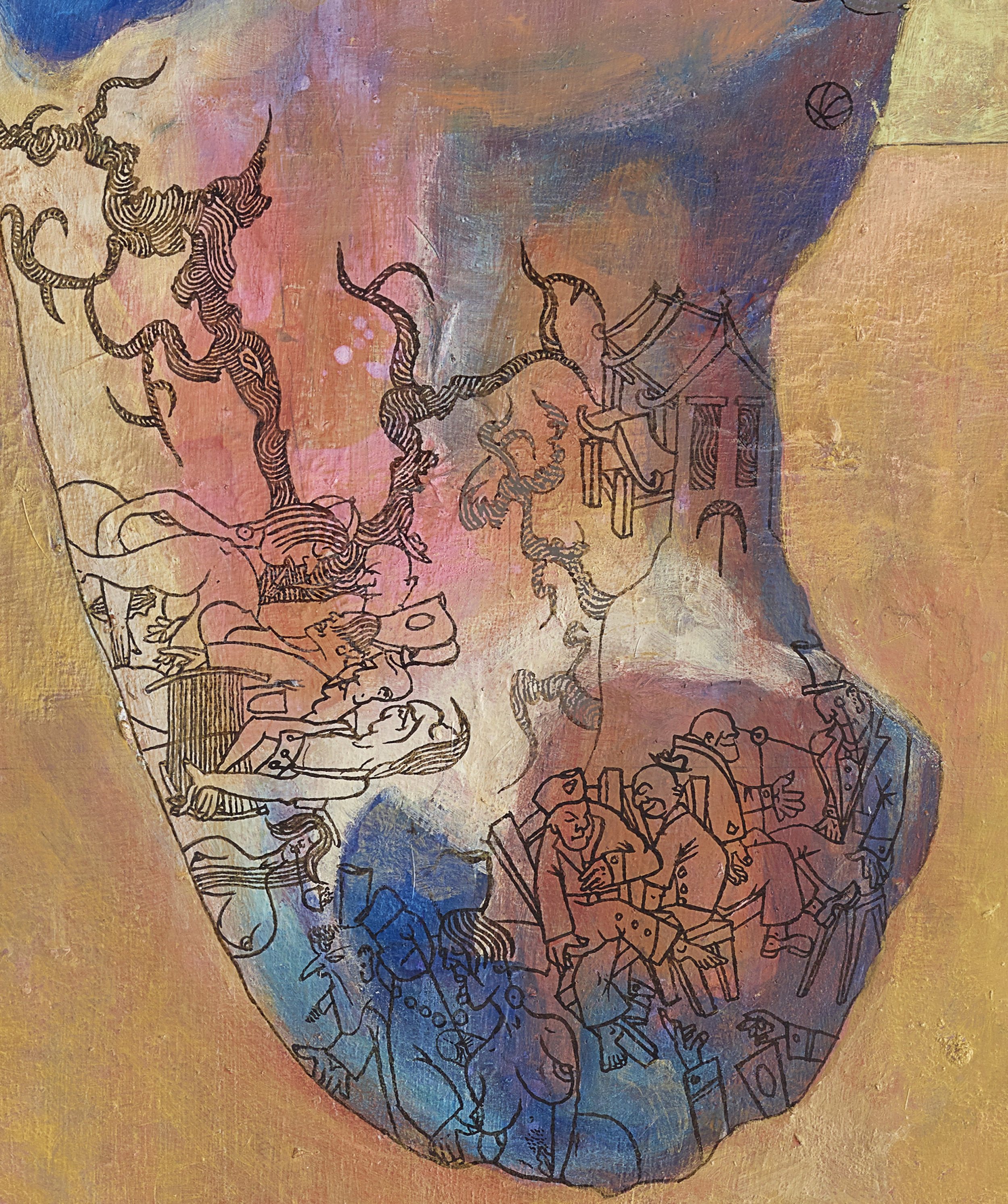 - Odyssey (detail)ByEllen Johansen and M G Walker(Acrylic and mixed media on board)
