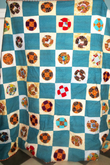 The finished quilt measures 92x92 inches and will be available for sale in my Etsy shop