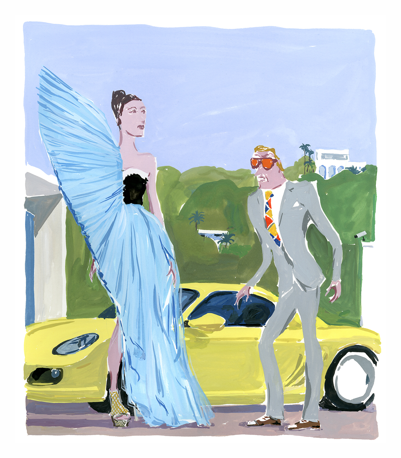 """​You should have told me you'd be wearing your Viktor & Rolf—I brought the Porsche!"""