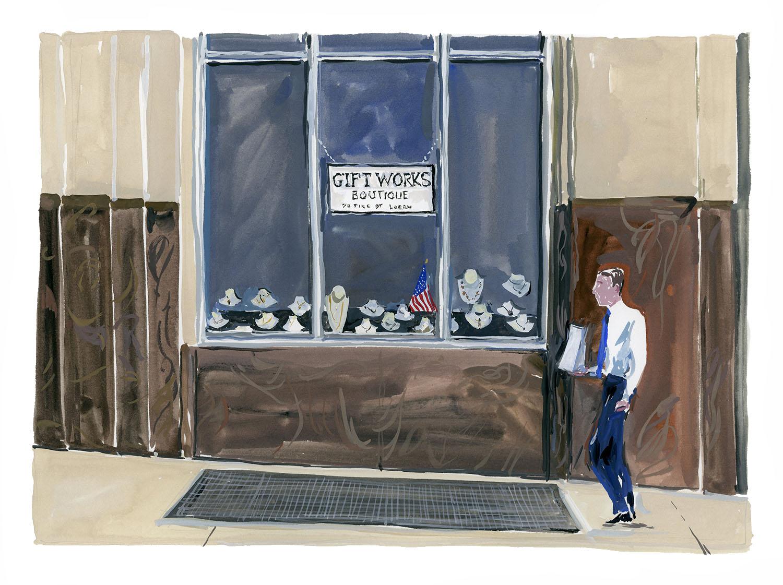 Gift shop, 70 Pine Street   Louis Vuitton New York Travel Book