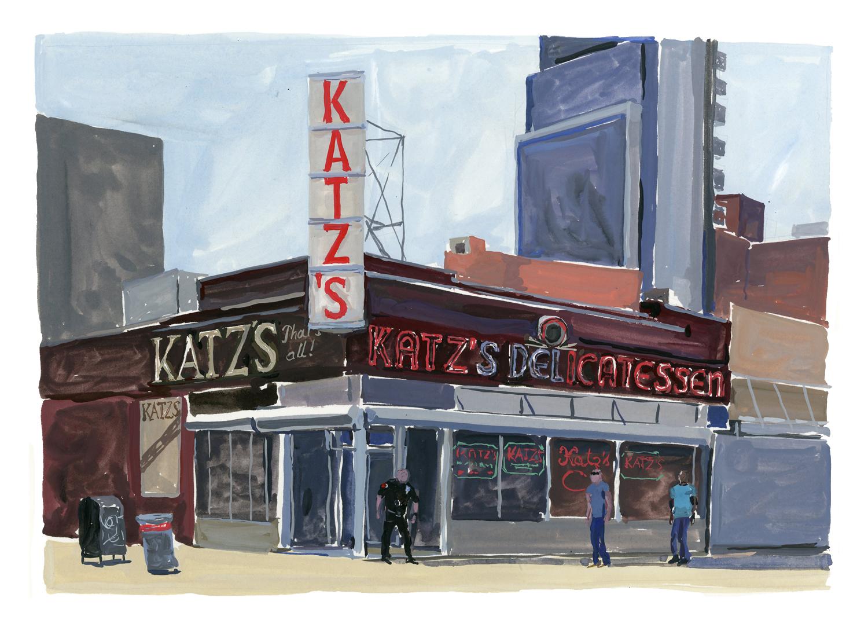 Katz's, East Houston St.   Louis Vuitton New York Travel Book