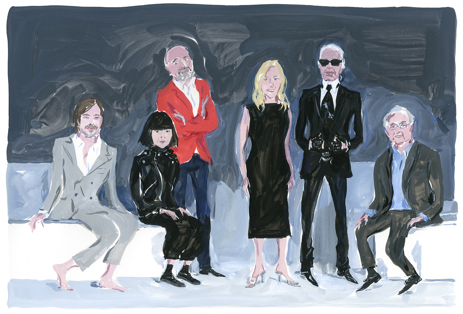 "Marc Newson, Rei Kawakubo, Christian Louboutin, Cindy Sherman, Karl Lagerfeld, Frank Gehry From ""The Icon and the Iconoclasts"" Celebrating the Monogram Louis Vuitton"