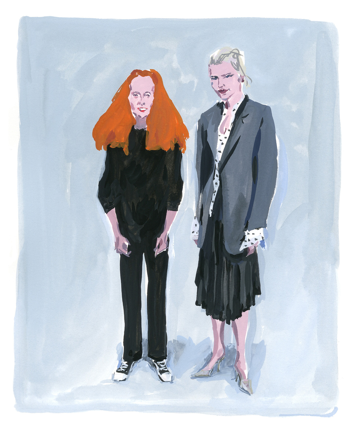 Grace Coddington and Lotta Volkova System Magazine