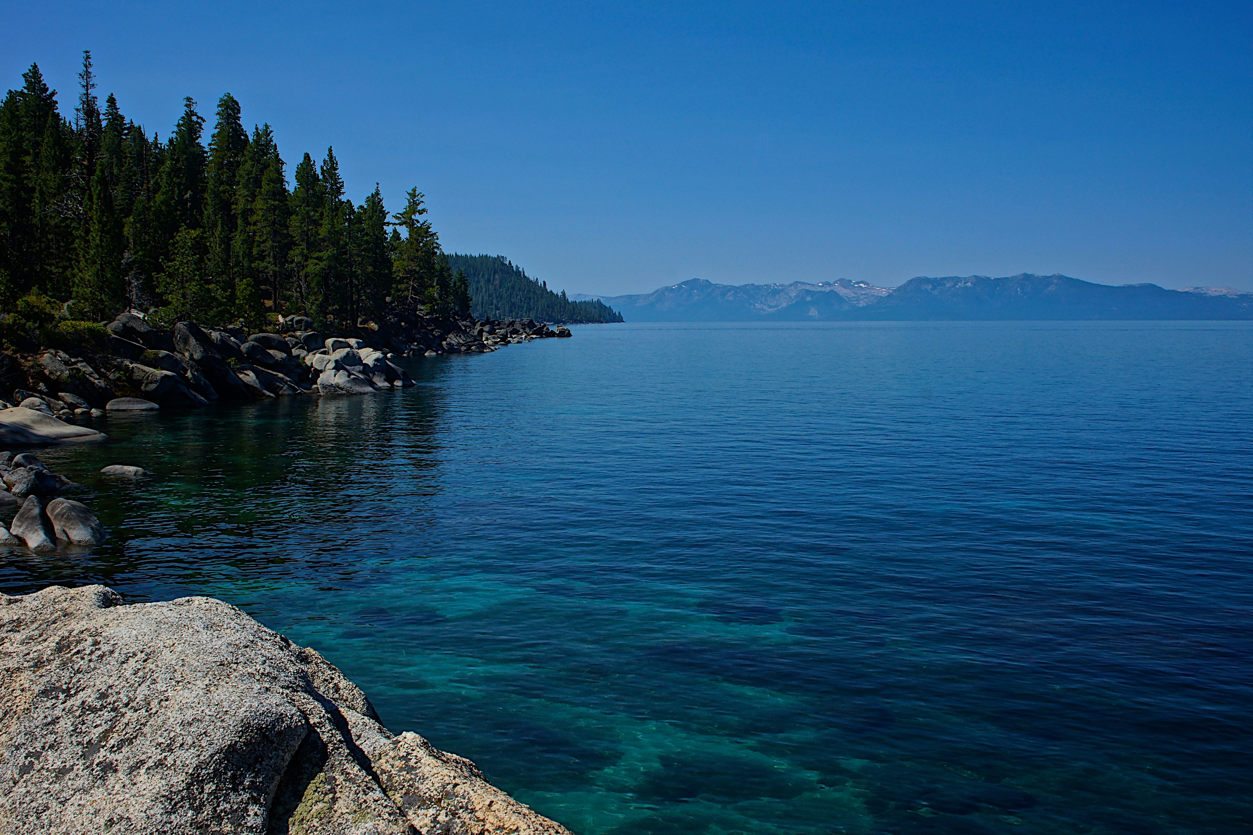 Photo from Secret Harbor on the west side of Lake Tahoe, very near to the course.