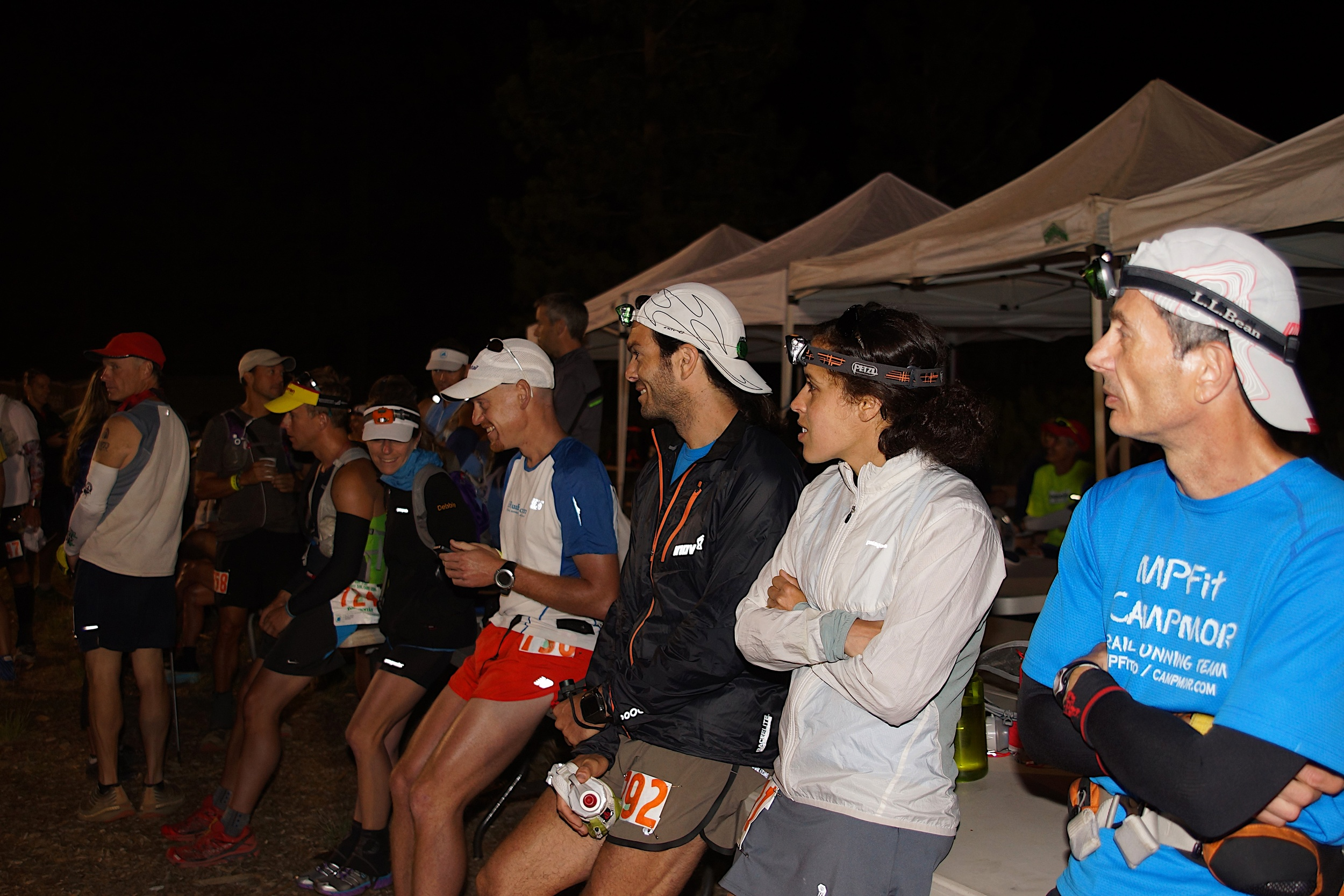 """Awaiting the start, 4:40am. 20 minutes till """"on your mark"""""""