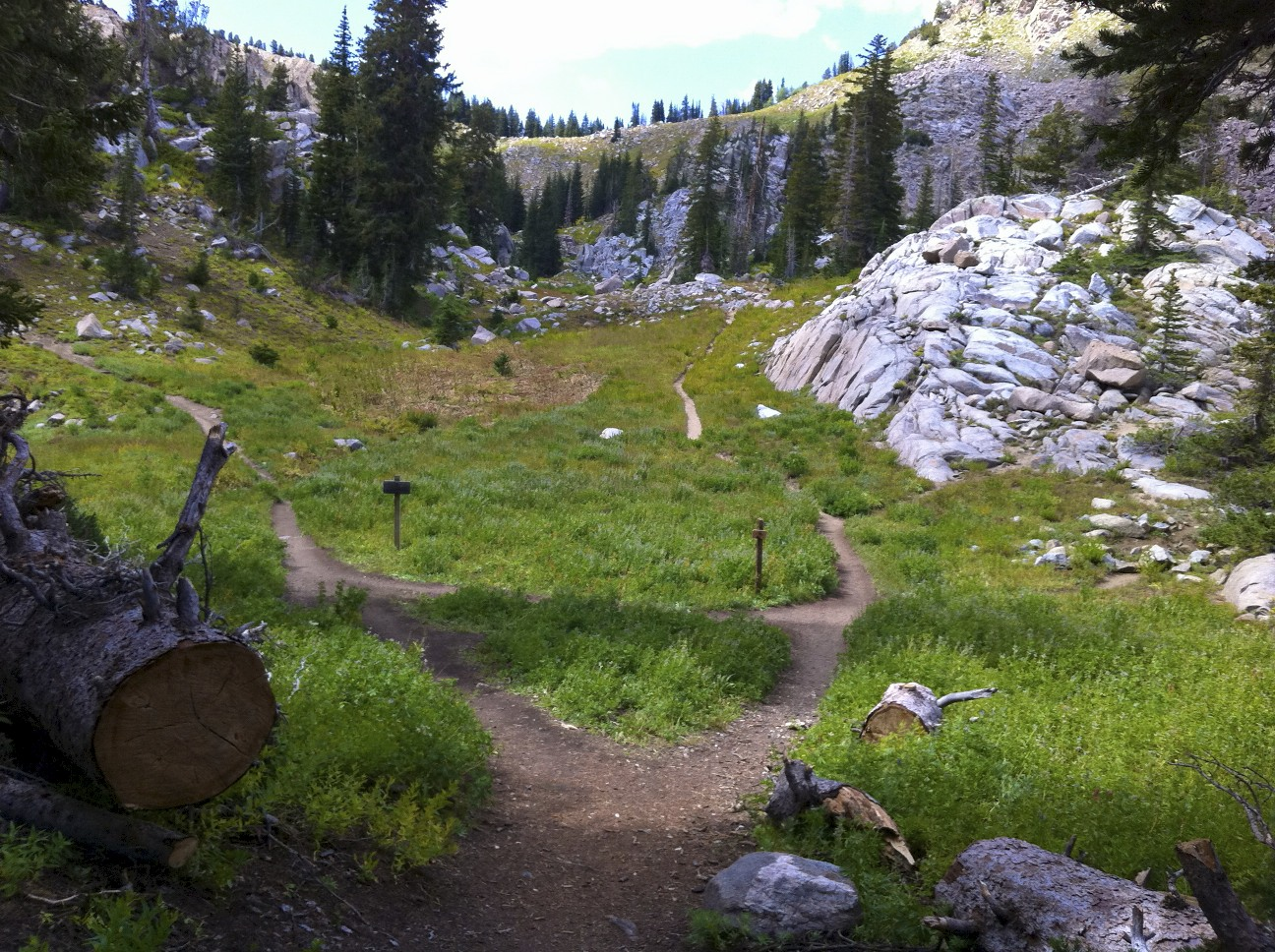 Trail to Lake Catherine or Sunset Pass