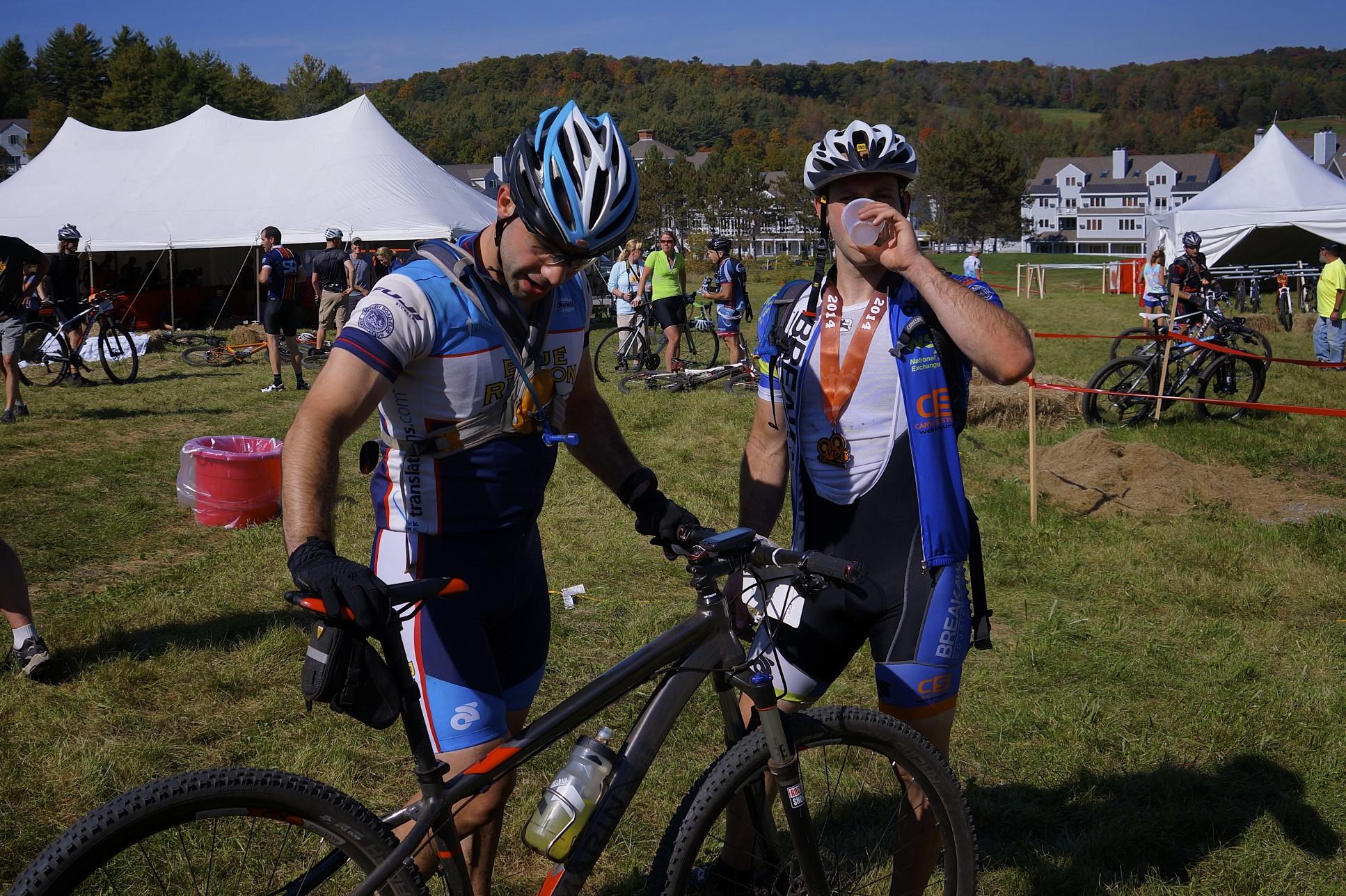 Evan & Joe at the finish