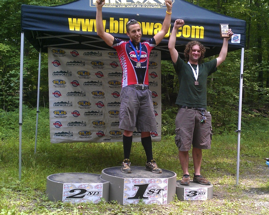 MPF Client Mike Zusman taking 1st place at the 2011 Blue Mountain H2H Mountain Bike Race!