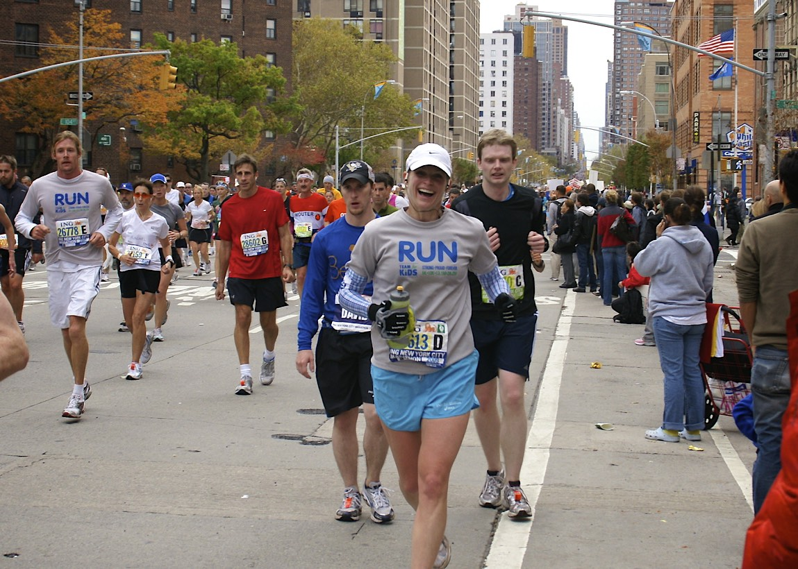 MPF Client Allison Newell having a great time at the NYC Marathon!